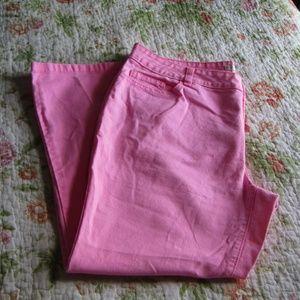 Boston Proper Pink Cropped Pants, sz. 14